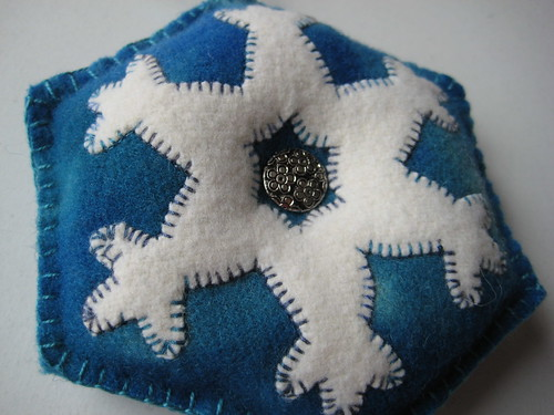 wool felt snowflake by Poppyprint