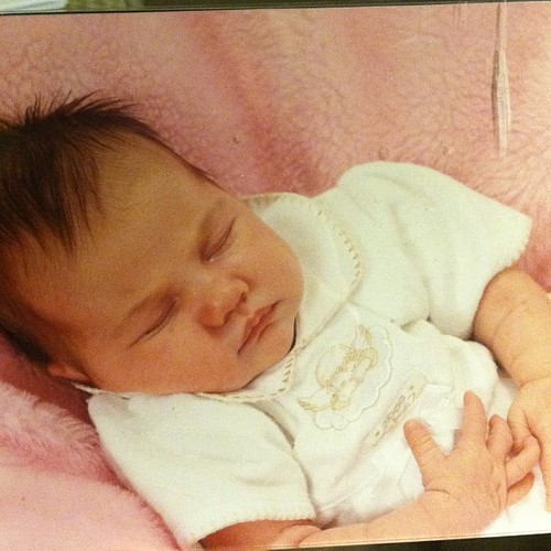 Found the precious picture of my girl at one month old today. She's 11 now. :-( #timestopplease