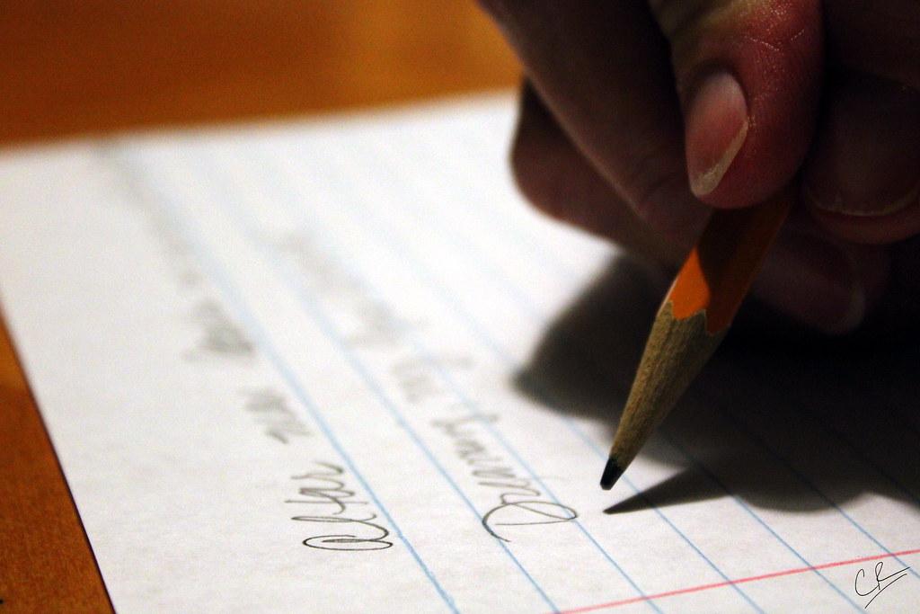 Writing? Yeah.