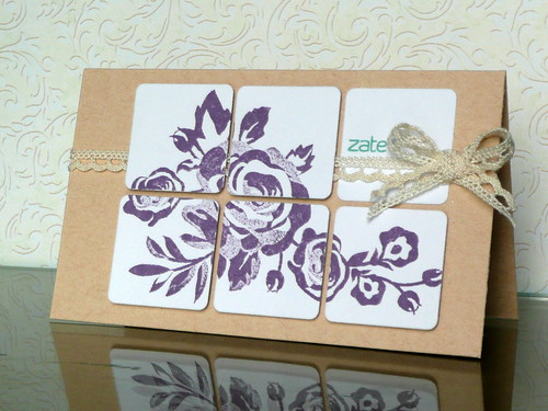 Grid roses card