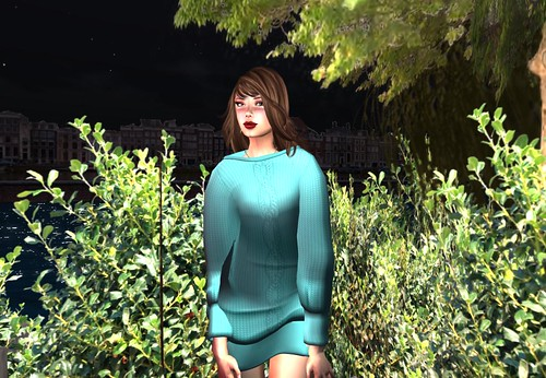 Ero Rabbi---Doman Sleeve Knitting Dress - Peppermint Green (free) by Cherokeeh Asteria