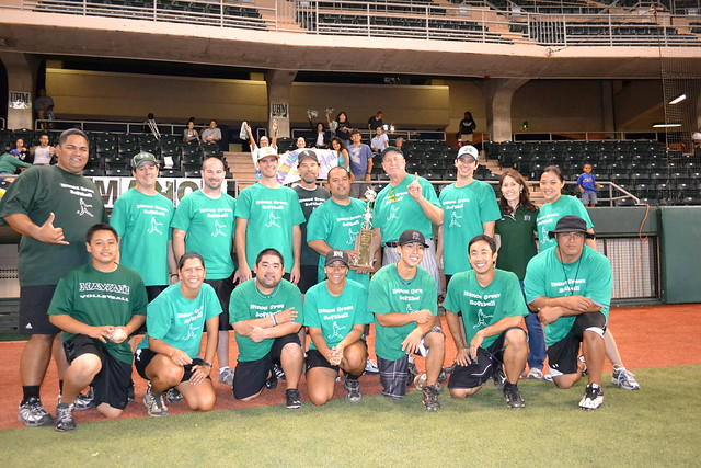 <p>The Manoa team won the UH AUW Softball Tourment at Les Murakami Stadium on Sept. 30, 2011</p>