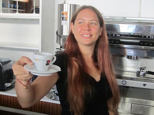 Birgit Kniebeiss, Geschäftsführerin des Café Fotograf