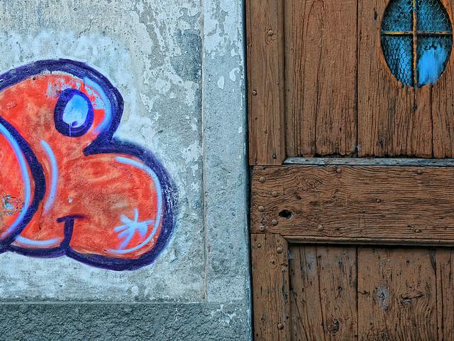 Graffiti, Wall and Wood