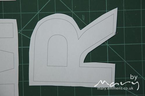 Cut out letter R