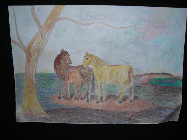Horses. Jail Art