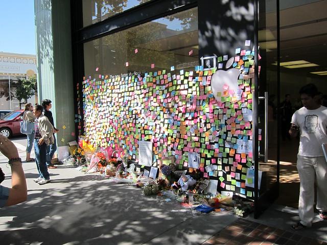 Downtown Palo Alto Steve Jobs Memorial