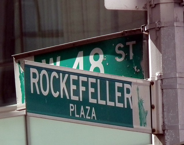 Rockefeller Plaza Sign Flickr Photo Sharing