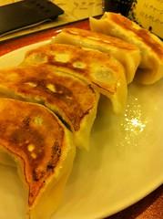 今日のランチは焼き餃子定食。¥550 #lunch