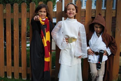 Hermione, Leia, Obi-Wan