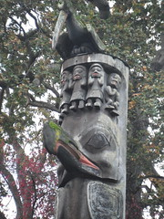 carving, totem pole, art, tree, sculpture,