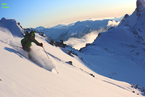 Nov 6 2011...Skier Andy Traslin..(8000ft ascended) Cold smoke on the down...Blackcomb area.