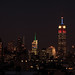 Empire State Building in Red White & Blue for election day & skyline friends