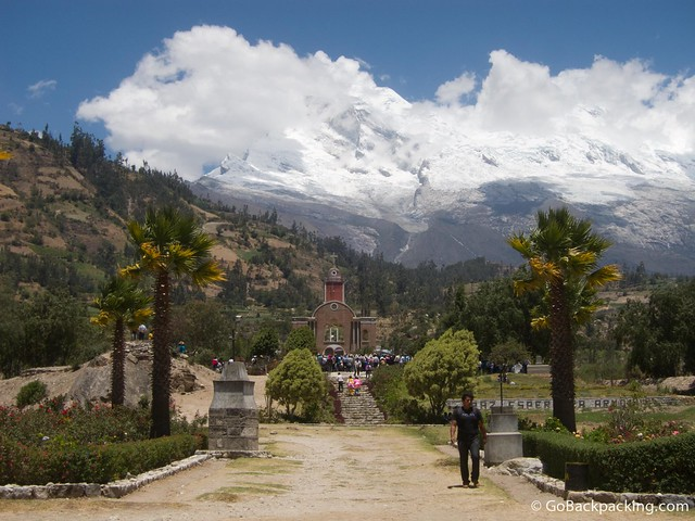View of Huascaran from the old Yungay