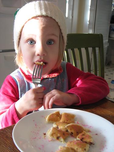 pancakes with pink sugar sprinkles