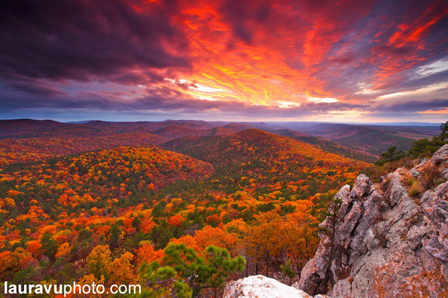 Autumn's Firework - Flatside Pinnacle, AR