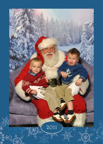 50% Successful 2-year-old visit to Santa