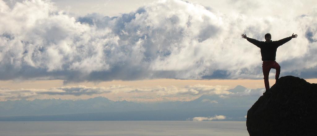 Near the top of Ptarmigan Peak. Chugach Mountains, Alaska