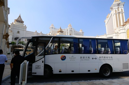 Free shuttle bus between Galaxy Macau and City of Dreams