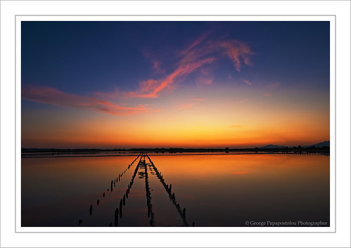 travel blue sunset sea sky lake nature colors landscape greece saltlake kosisland