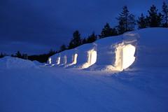 Igloo en neige Laponie Finlandaise