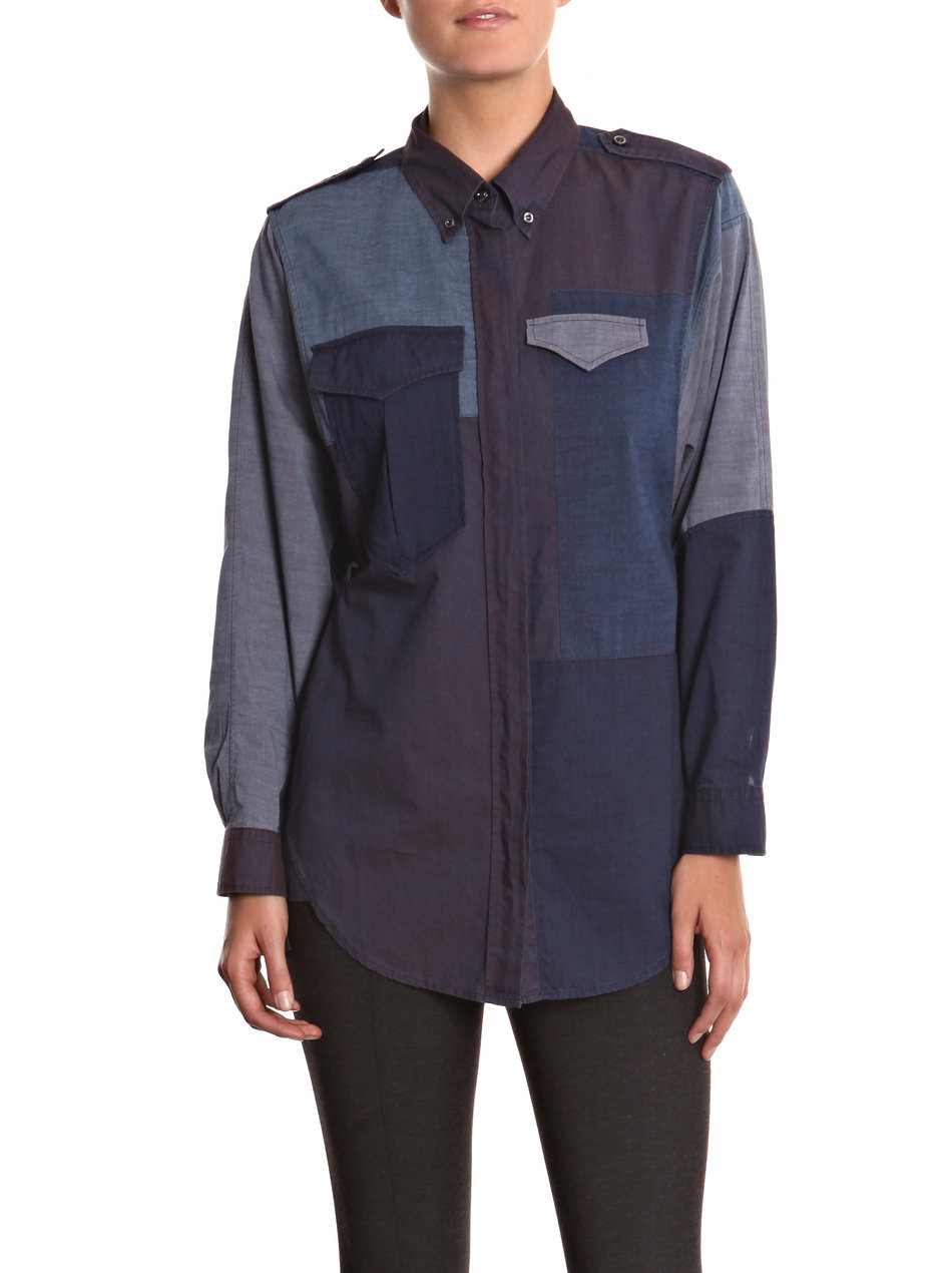 isabel marant FW11 denim patchwork shirt 6