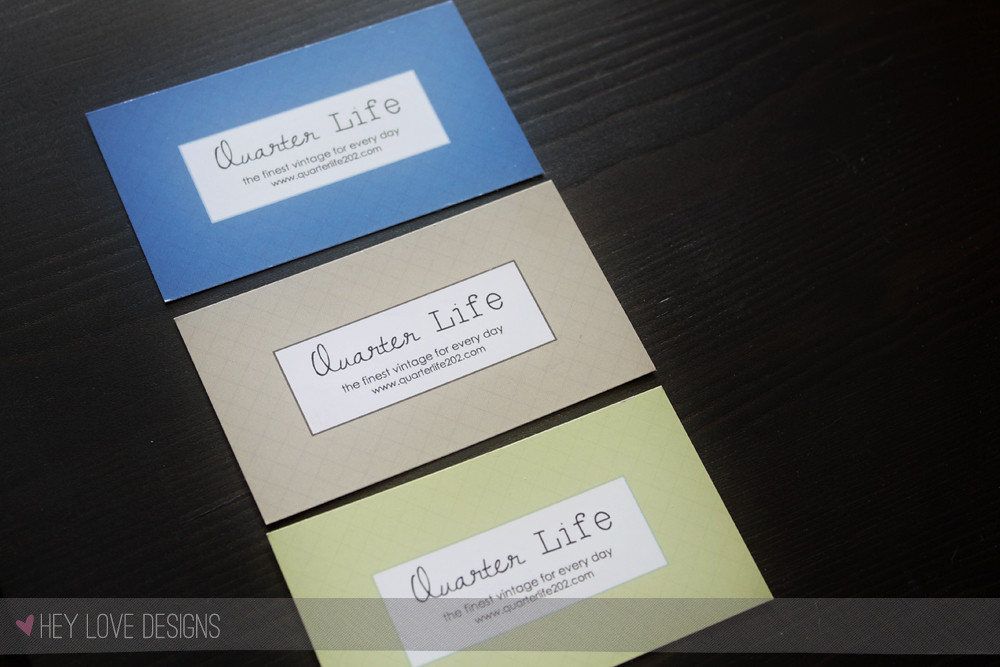 Quarter Life 202 Business Cards - 3 sets of cards