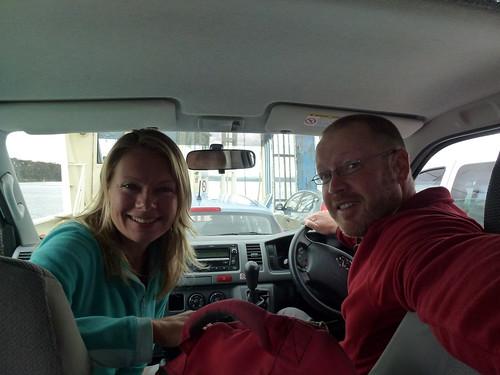 Op de ferry naar Bruny Island