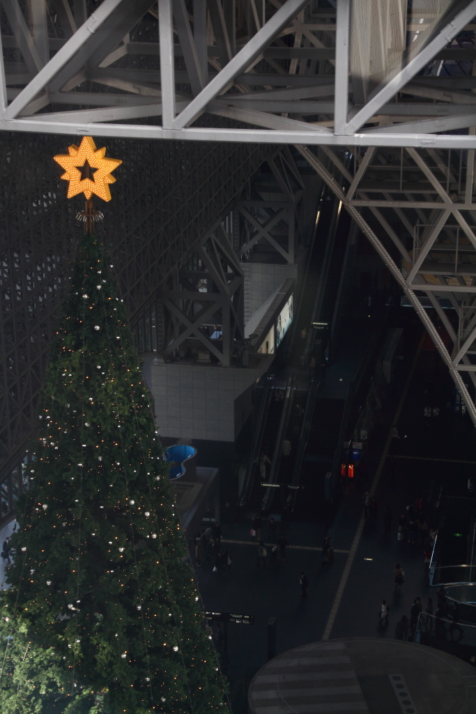 Christmas tree in JR Kyoto Station (2)
