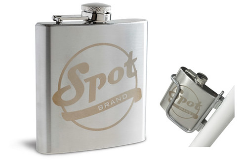 Spot flask and flask holder. Because.