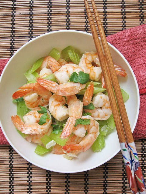 Celery and Shrimps Stir-Fry 清炒芹菜虾仁 ~ Teczcape-An Escape to ...