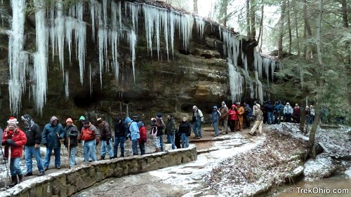 Participants in the annual Hocking Hills Winter Hike