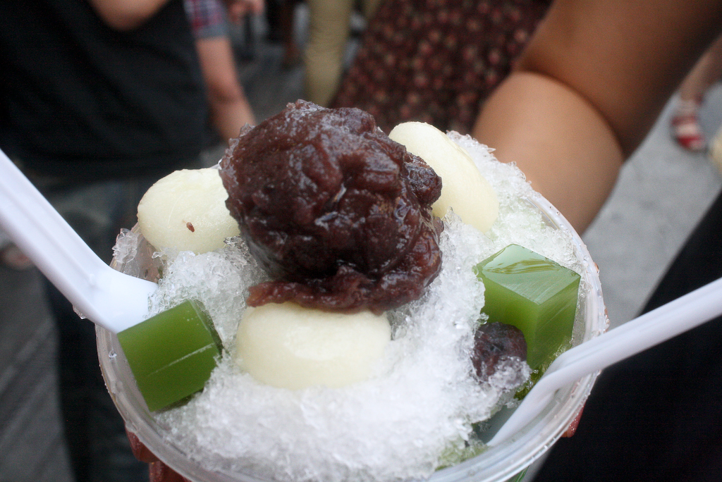 Green Tea Sweet Bean Shaved Ice
