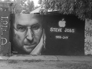 Steve Jobs graffiti