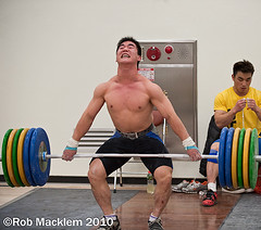 China training Olympic weightlifting