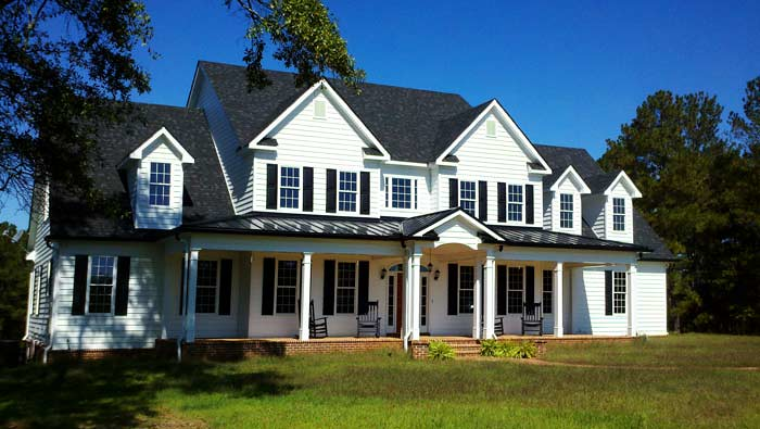 Large country home floor plan high country farmhouse for Country farmhouse plans