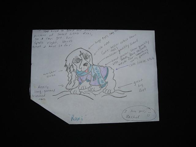 Roxi, The Cocker Spaniel. Jail Art