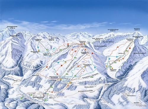 Heiligenblut - mapa sjezdovek