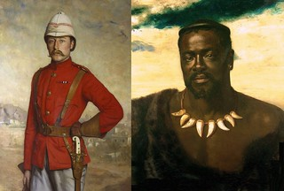 The British officer and The Zulu King