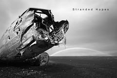 Stranded Hopes (B&W) - Sandur -  Iceland