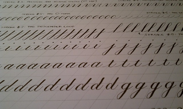 Copperplate calligraphy practice | Flickr - Photo Sharing!