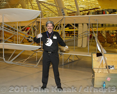 Scott with a Wright Bros. Military Aircraft