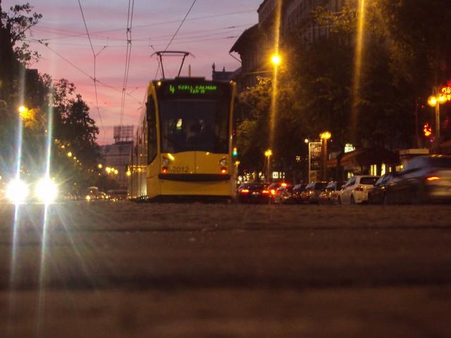 Tramlines in Budapest