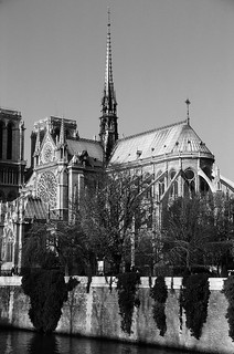 Notre Dame Cathedral on the banks of the Seine River