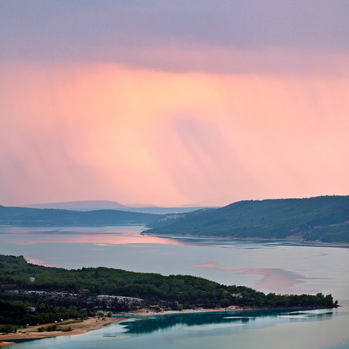 lake france rain square twilight europe places provence decent waterscapes lacdestcroix flong cameracanon5d2 lenscanon70200f4lis