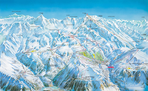 Alpe d´Huez - mapa sjezdovek