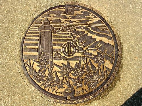 Gusukube Okinawa manhole cover