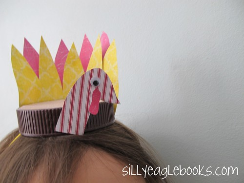 bottle cap thanksgiving turkey kid's craft