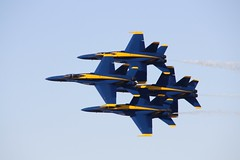 Blue Angles Delta Formation in Flight