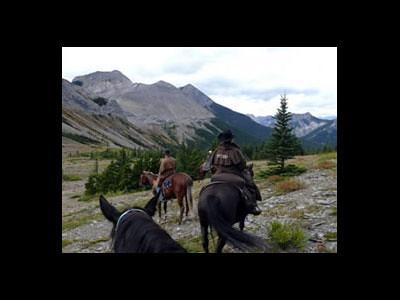 Équitation dans les Rocheuses Canadiennes (Banff, Alberta, Canada)